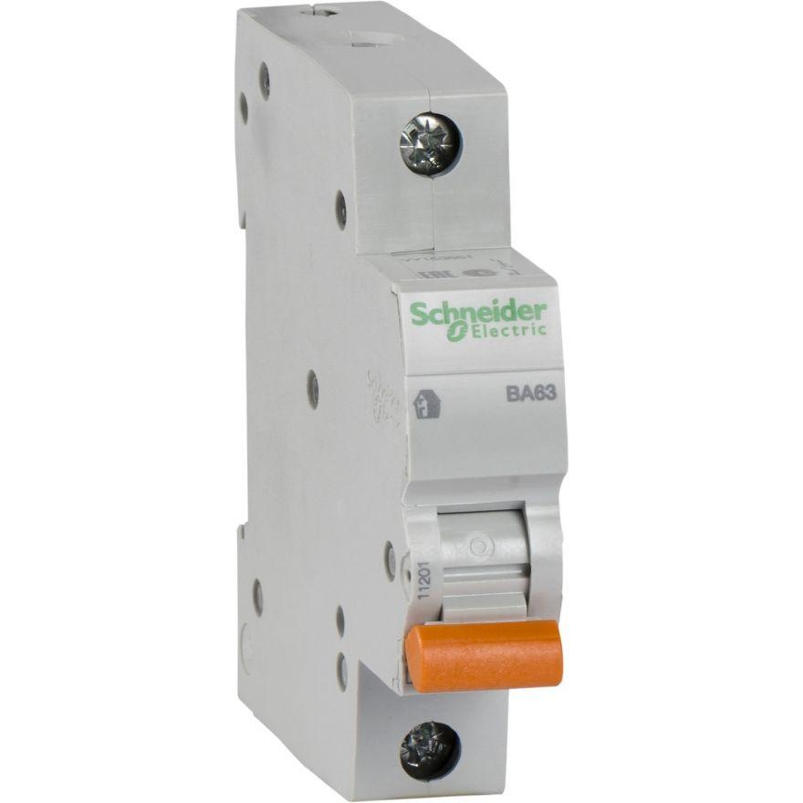 Schneider Domovoy автоматический выкл. ВА63 1P 10А 4,5кА х-ка C 11202