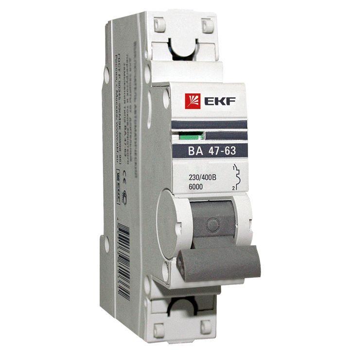 Автоматический выключатель ВА47-63 6кА, 1P 50А (B) EKF PROxima