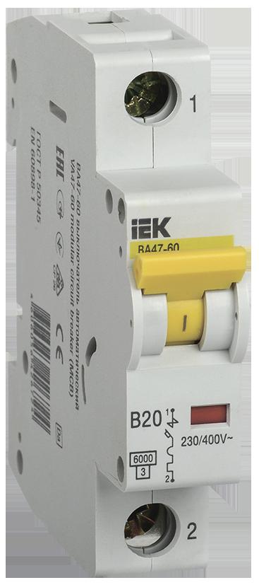 Автоматический выключатель IEK MVA41-1-020-B