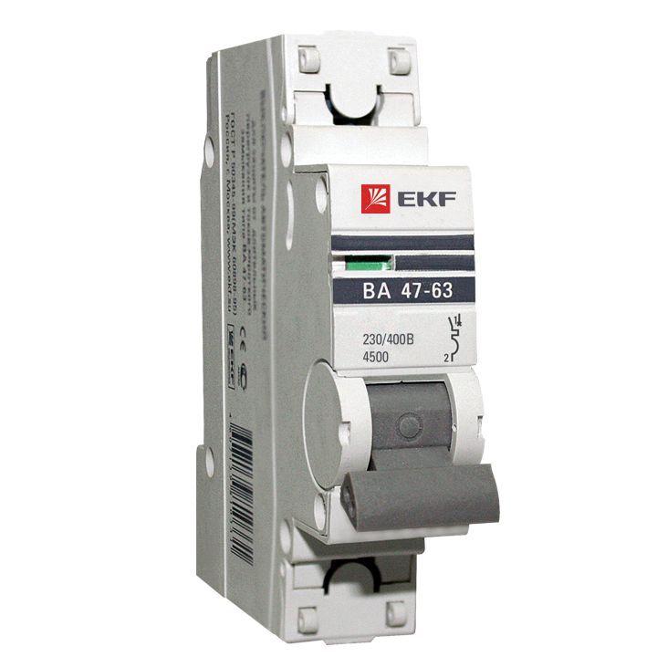 EKF Автоматический выключатель ВА47-63, 1P 13А (C) 4,5kA EKF PROxima