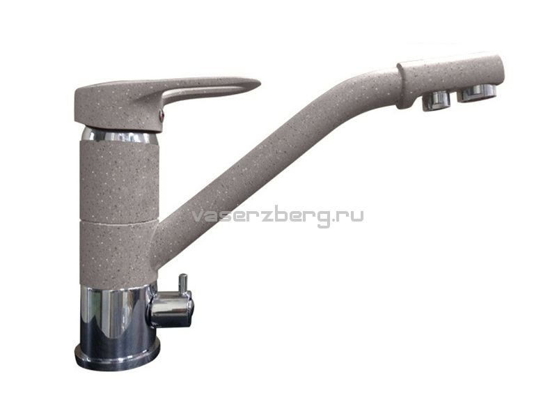 Смеситель для кухни с выходом под фильтр GranFest Мрамор GF2624-1 Серый