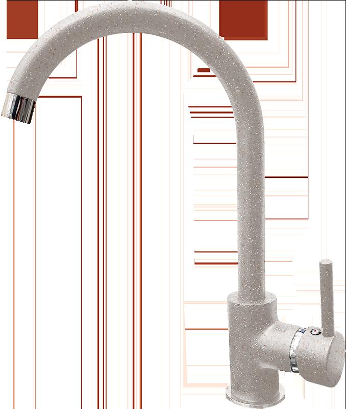 Смеситель для кухни GranFest Мрамор GF7651 Серый