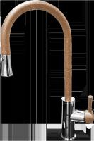Смеситель для кухни с выдвижной лейкой GranFest мрамор GF7652 Терракот