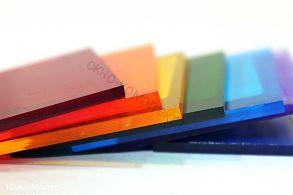 """Монолитный поликарбонат """"Карбогласс"""" 12мм (Диффузор,опал,коричневый,бордовый,красный,желтый,зеленый ,серебристый, синий,бирюза) Размер: 2,05*3,05м"""