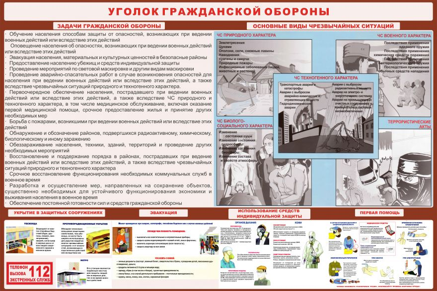 Информационный стенд Гражданская оборона_1
