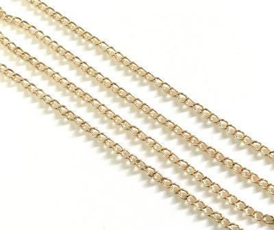 Цепочка мет. ленточное плетение 3х2.5х0.2мм 1.5м золото