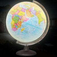 Глобус политический диаметром 320 мм, с подсветкой - внешний вид
