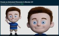 [Skillshare] Создание анимированного персонажа в Blender 2.9 (2021) (Darrin Lile)