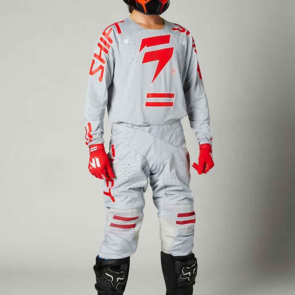 Shift Black Label King Grey/Red джерси и штаны для мотокросса