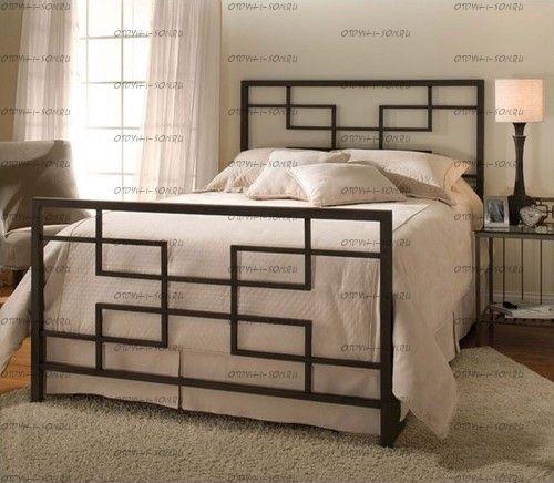 Кровать металлическая Титан Лофт Кубо