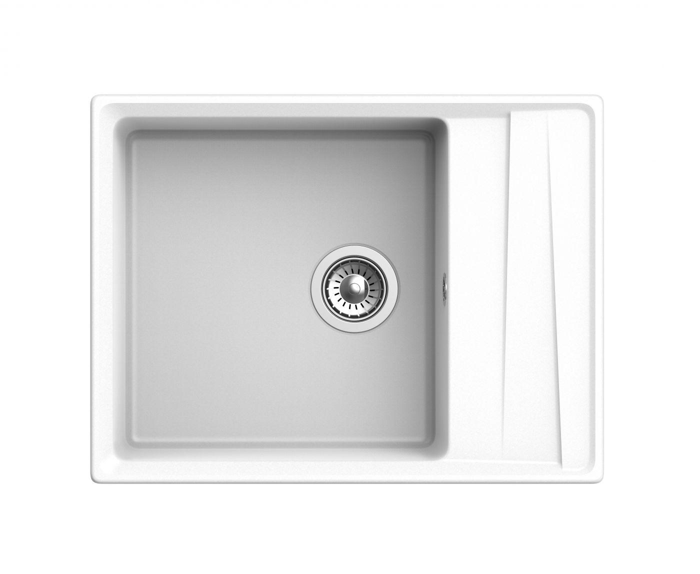 Мраморная мойка для кухни GranFest Level GF-LV660L Иней
