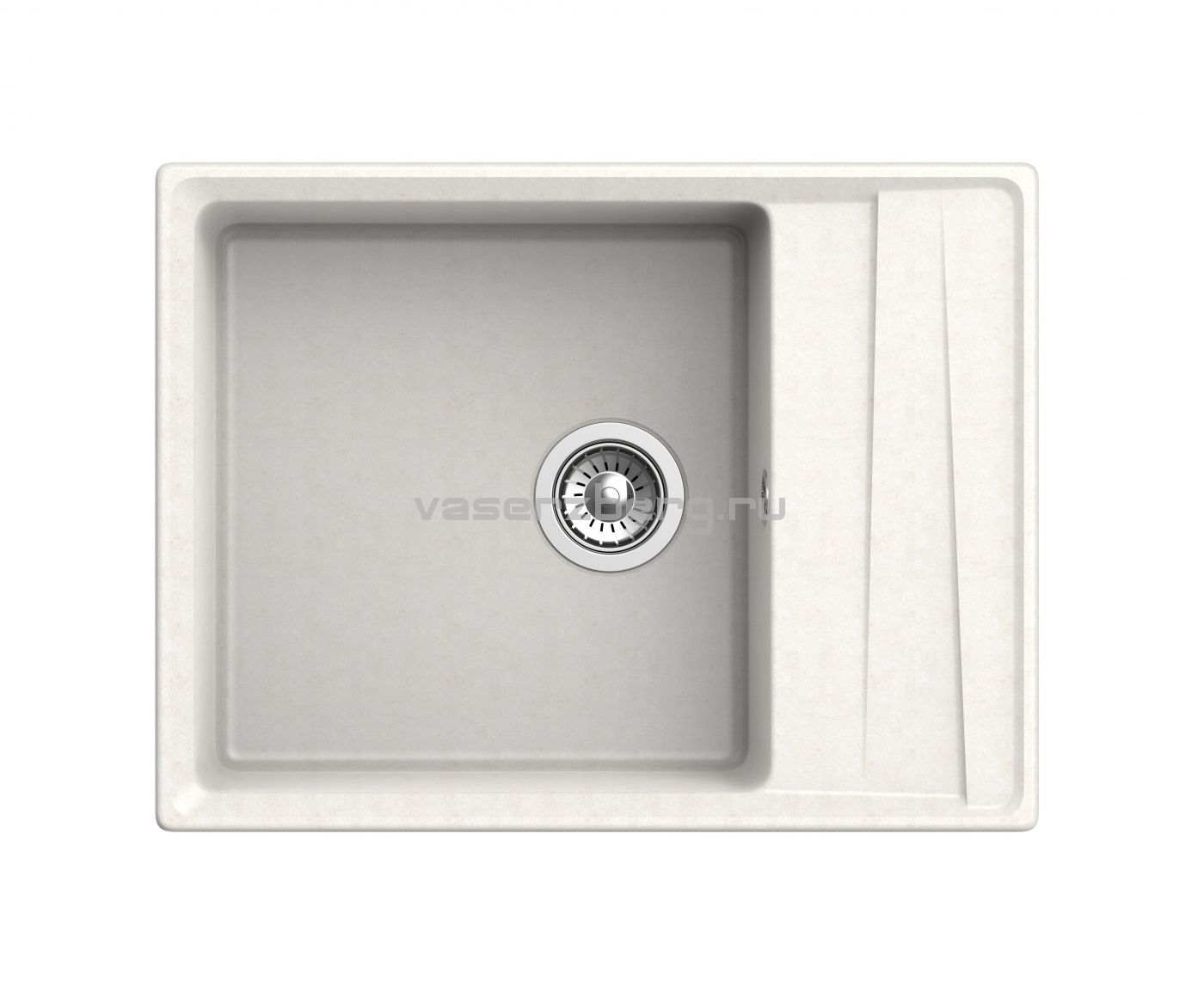Мраморная мойка для кухни GranFest Level GF-LV660L Белая