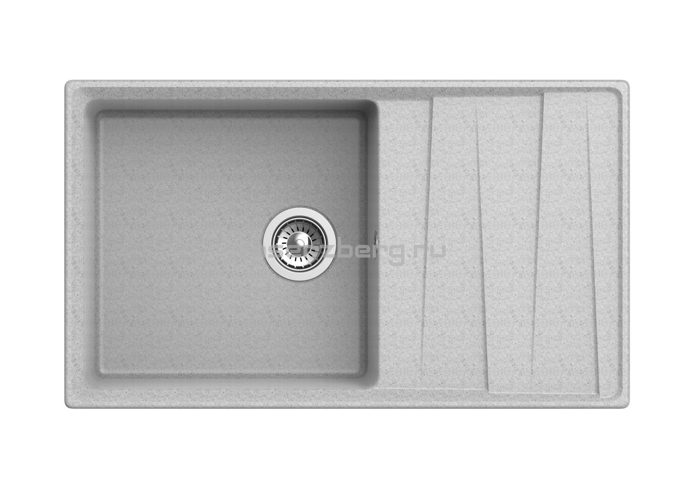 Мраморная мойка для кухни GranFest Level GF-LV860L Серый