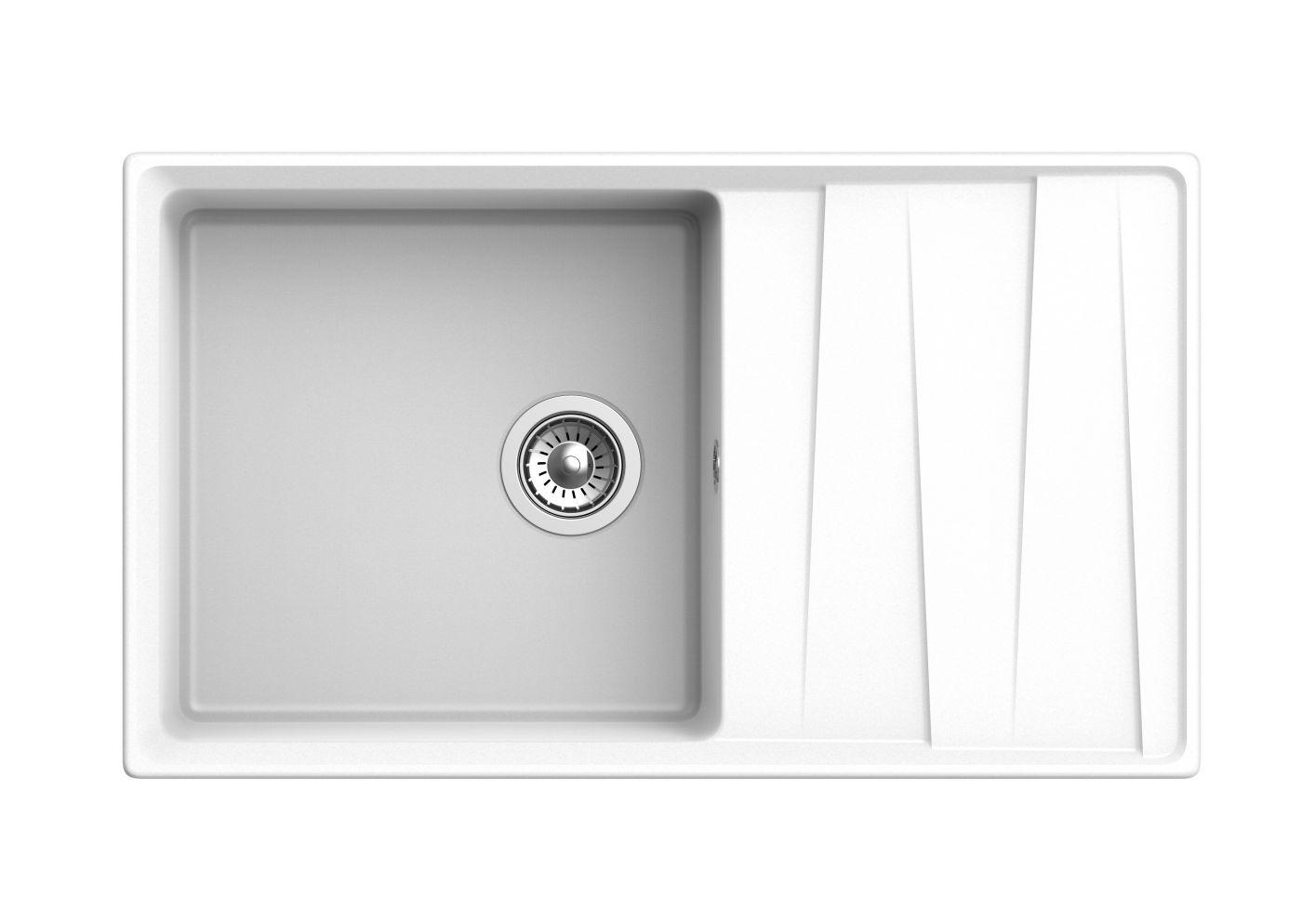 Мраморная мойка для кухни GranFest Level GF-LV860L Иней