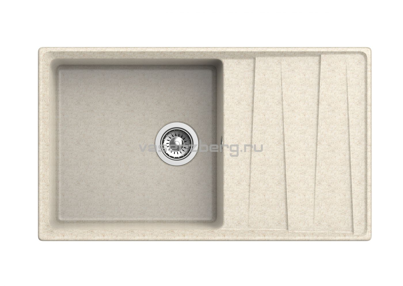 Мраморная мойка для кухни GranFest Level GF-LV860L Бежевый