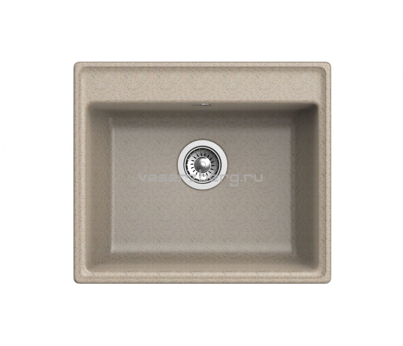 Мраморная мойка для кухни GranFest Vertex GF-V580 Песочный