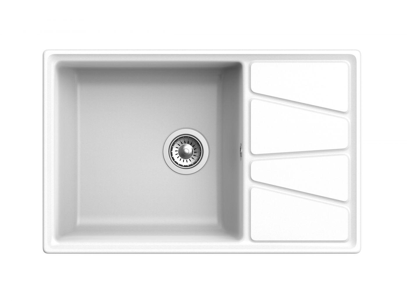 Мраморная мойка для кухни GranFest Vertex GF-V780L Иней