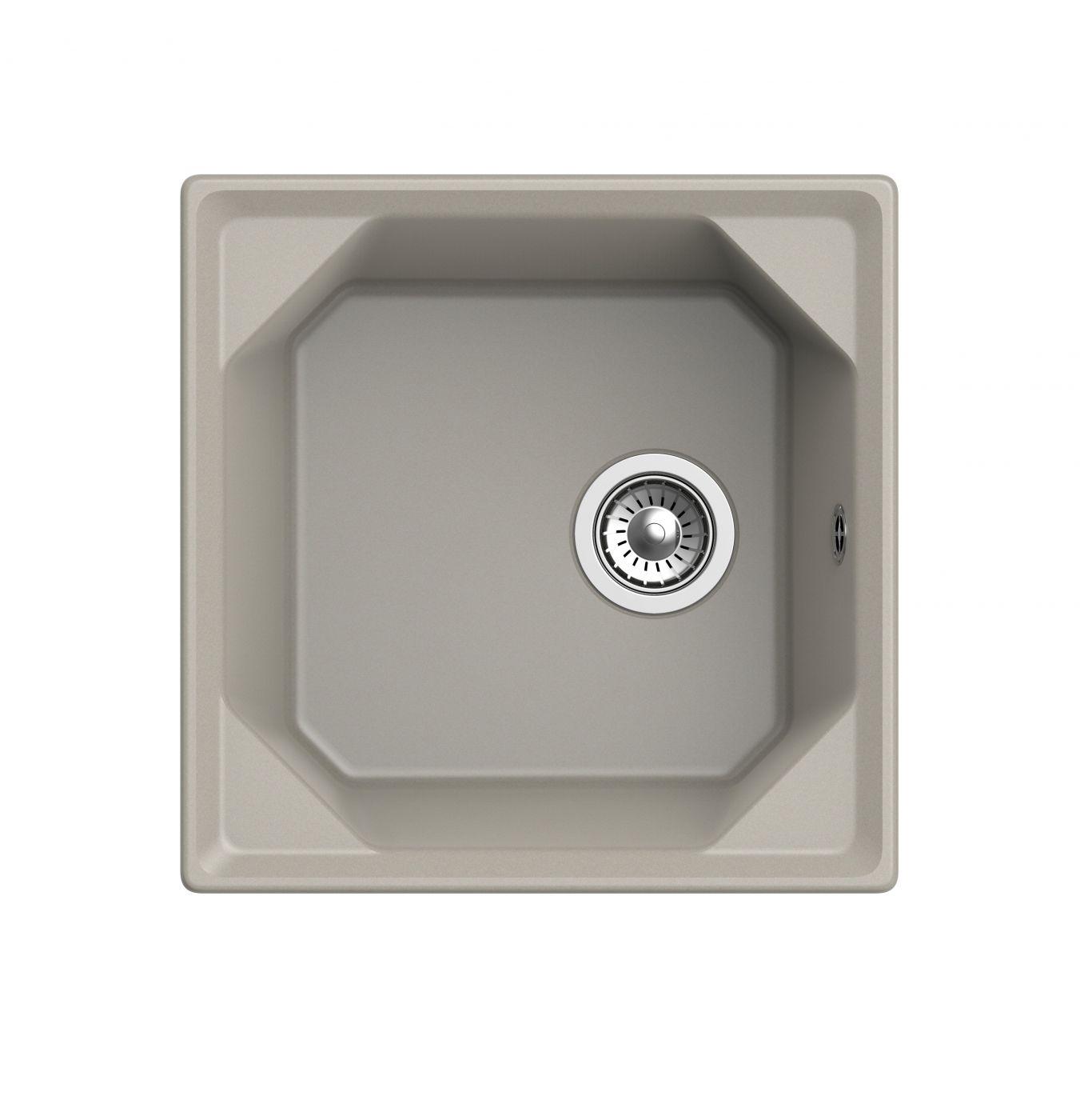 Мраморная мойка для кухни GranFest Unique GF-U500 Топаз