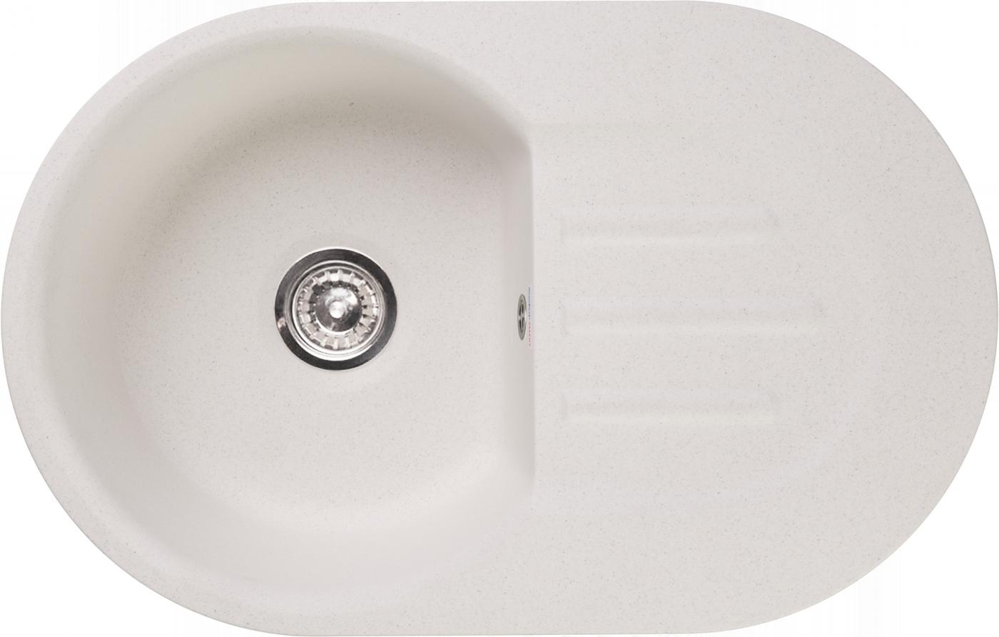 Мраморная мойка для кухни GranFest Smart SM685L Белый