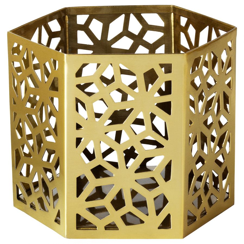 LJUVARE ЛЬЮВАРЕ, Подсвечник для греющей свечи, золотой, 8 см - 004.921.30