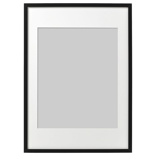 RIBBA РИББА, Рама, черный, 50x70 см - 403.815.78