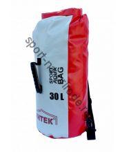 Герморюкзак Митек 30л (D 26см Н-57см) красно-серый