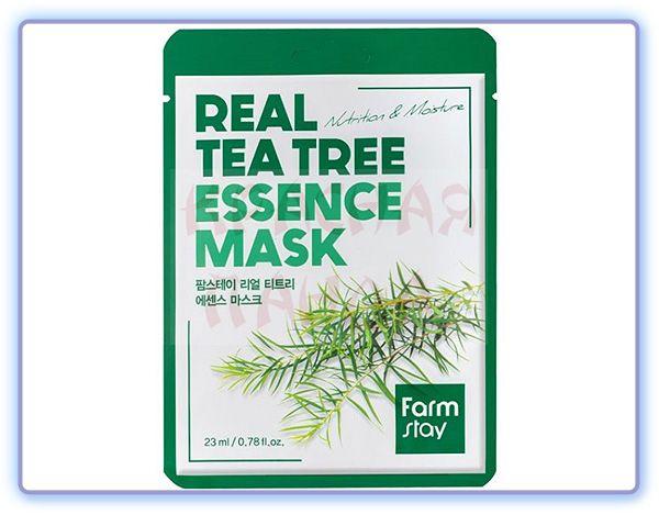 Тканевая маска с экстрактом чайного дерева Farmstay Real Tea Tree Essence Mask