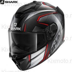 Шлем Shark Spartan GT Carbon Kromium, Черно-красный