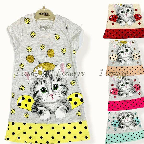 Платье Киса-пчелка Турция  2-5 лет