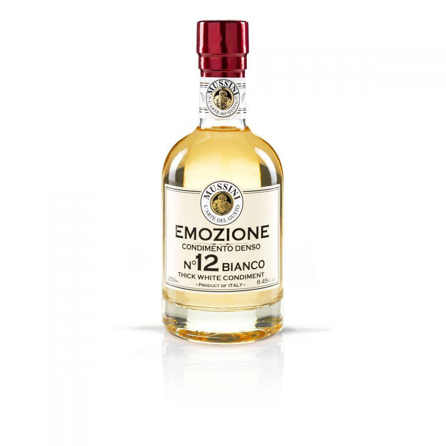 Заправка на основе бальзамического уксуса Эмоция №12 (белая) 250 мл, Condimento balsamio bianco Emozione №12 , Mussini, 250 ml