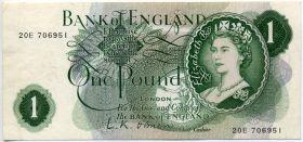 Великобритания 1 фунт 1967