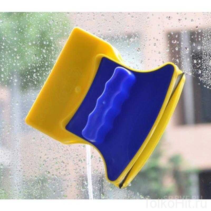 Магнитная щетка для двухстороннего мытья стекол  DOUBLE SIDED GLASS CLEANER