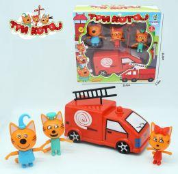 Игровой набор Три кота и пожарная машина