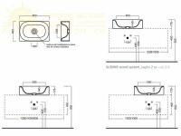 Накладная раковина Hatria Valley Y1GD01 прямоугольная 60х40 схема 1