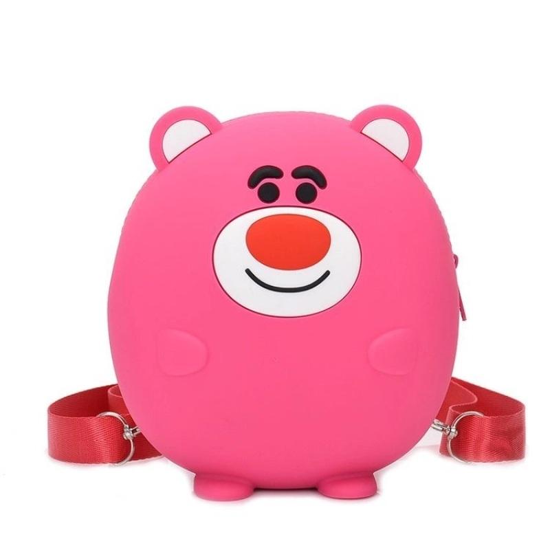 Сумка детская силиконовая, Розовый медведь
