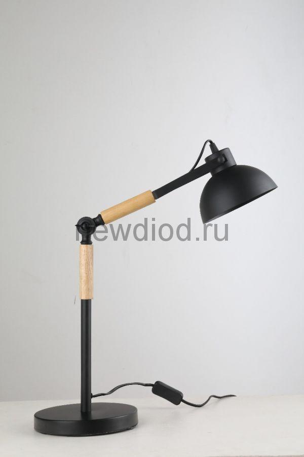 Светильник настольный COMFORT 841B под лампу E27 на основании МЕТАЛЛ ЧЕРНЫЙ OREOL