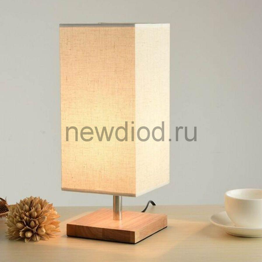 Светильник-торшер настольный Wood 630W под лампу E14  на основании ДЕРЕВО+БЕЛЫЙ OREOL