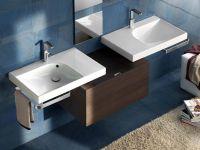Подвесная или мебельная накладная раковина Hatria Grandagolo 75 75х50 схема 3