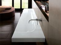 Мебельная накладная или подвесная раковина Hatria Grandagolo 130х50 схема 4
