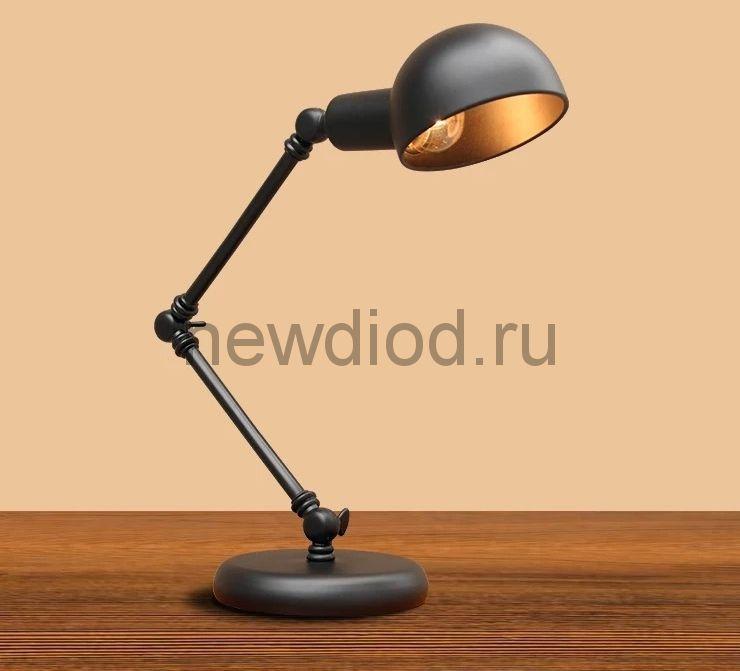 Светильник настольный Office 1121B под лампу E27 на основании МЕТАЛЛ ЧЕРНЫЙ OREOL