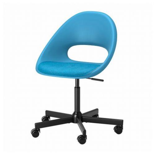 ELDBERGET ЭЛДБЕРГЕТ / MALSKAR МАЛЬСКЭР, Рабочее кресло c подушкой, синий/черный - 593.318.85