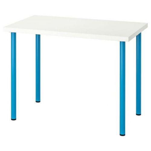 LINNMON ЛИННМОН / ADILS АДИЛЬС, Стол, белый/синий, 100x60 см - 892.790.32