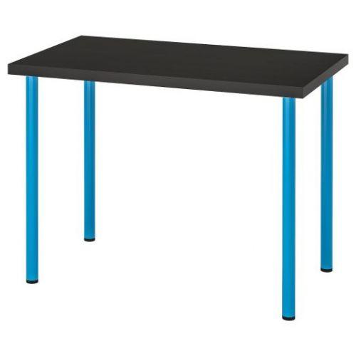 LINNMON ЛИННМОН / ADILS АДИЛЬС, Стол, черно-коричневый/синий, 100x60 см - 092.790.31