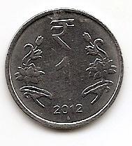 1 рупия (Регулярный выпуск) Индия 2012