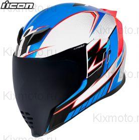 Шлем Icon Airflite Ultrabolt, Белый-синий-красный