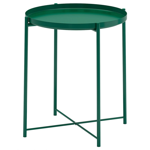 GLADOM ГЛАДОМ, Стол сервировочный, зеленый, 45x53 см - 804.621.34
