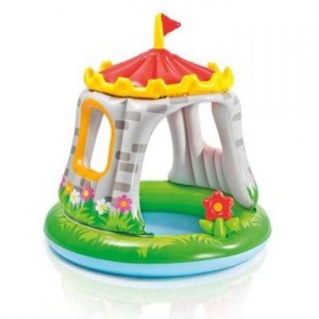 Детский надувной бассейн с навесом Замок 122х122 см Intex 57122