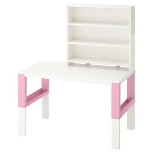PAHL ПОЛЬ, Письменн стол с полками, белый/розовый, 96x58 см - 792.512.79