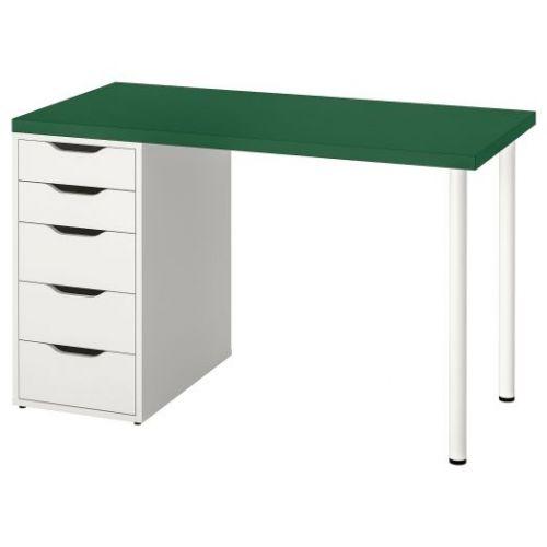 LINNMON ЛИННМОН / ALEX АЛЕКС, Стол, зеленый/белый, 120x60 см - 393.355.49