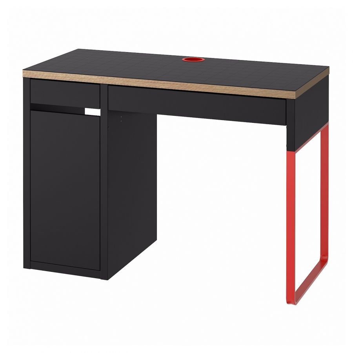 MICKE МИККЕ, Письменный стол, антрацит/красный, 105x50 см - 404.898.52